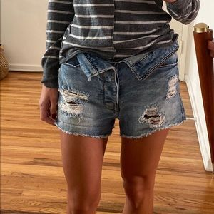 rTa denim shorts